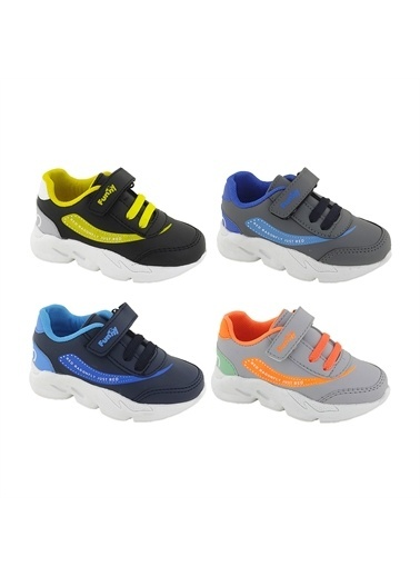 Necix's Funny Bebek Cırtcıtlı Spor Ayakkabı-Lacivert-Mavi Funny Bebek Cırtcıtlı Spor Ayakkabı-Lacivert-Mavi Renkli